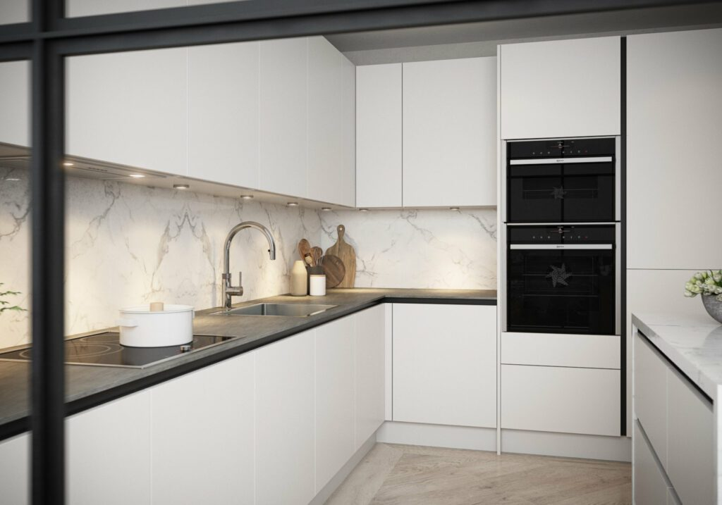Daval Handleless Fitted Kitchen Furniture Huddersfield