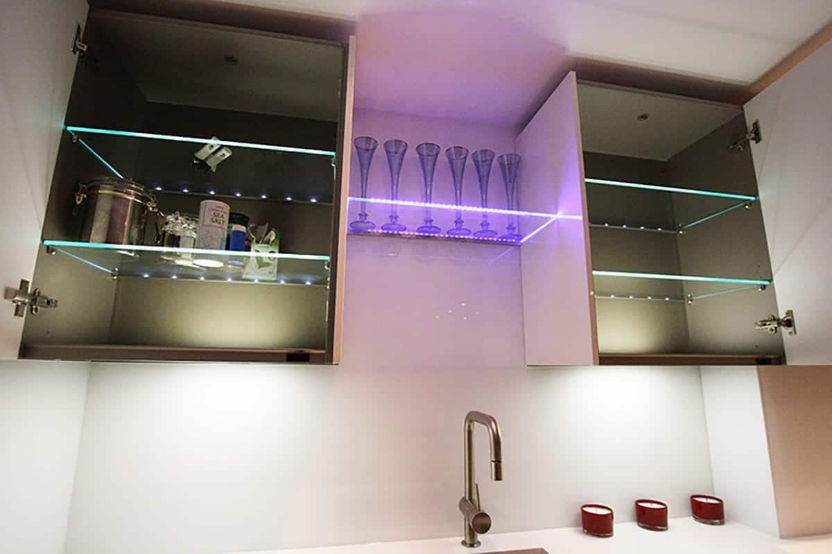 Kitchen Cabinets With Led Lighting   Colour House Interiors Client Site, Caterham