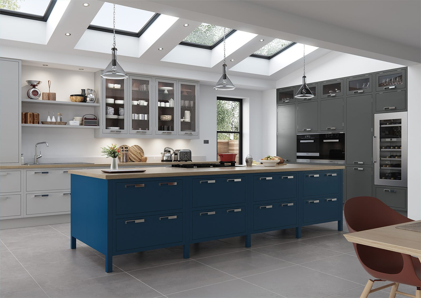 Aisling In Frame Kitchen With Island | Colour House Interiors, Caterham