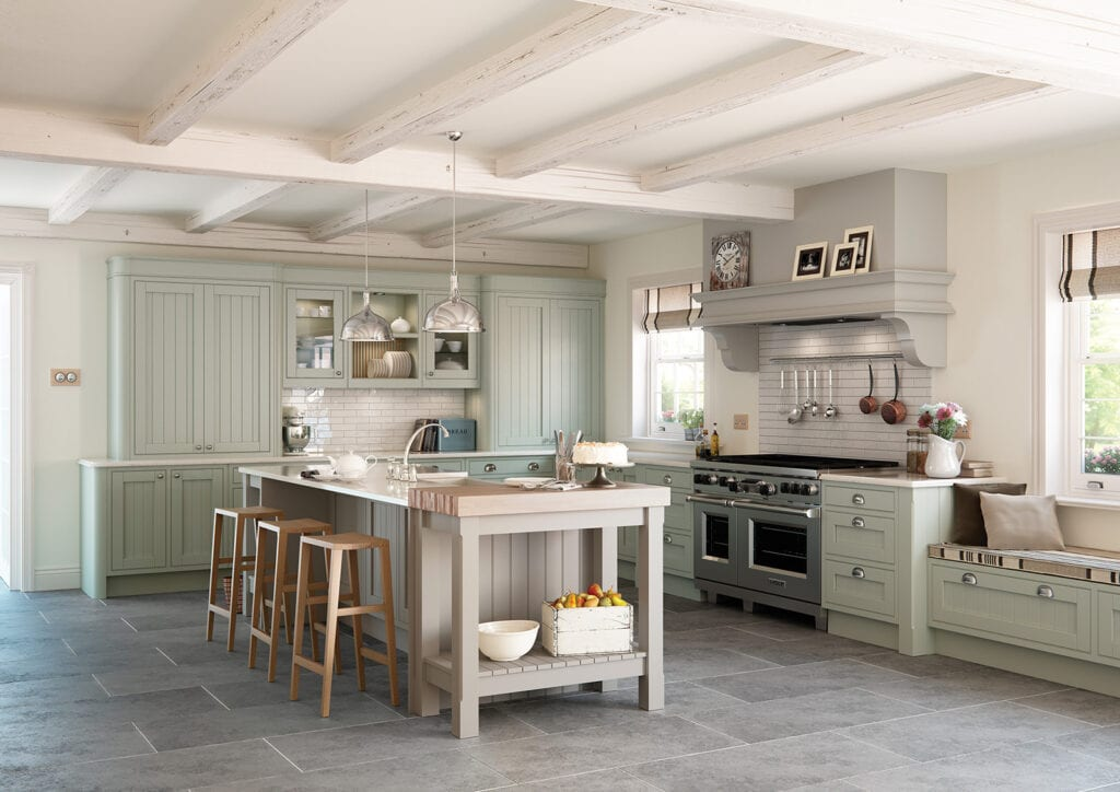 Aisling Light In Frame L Shaped Kitchen | Colour House Interiors, Caterham