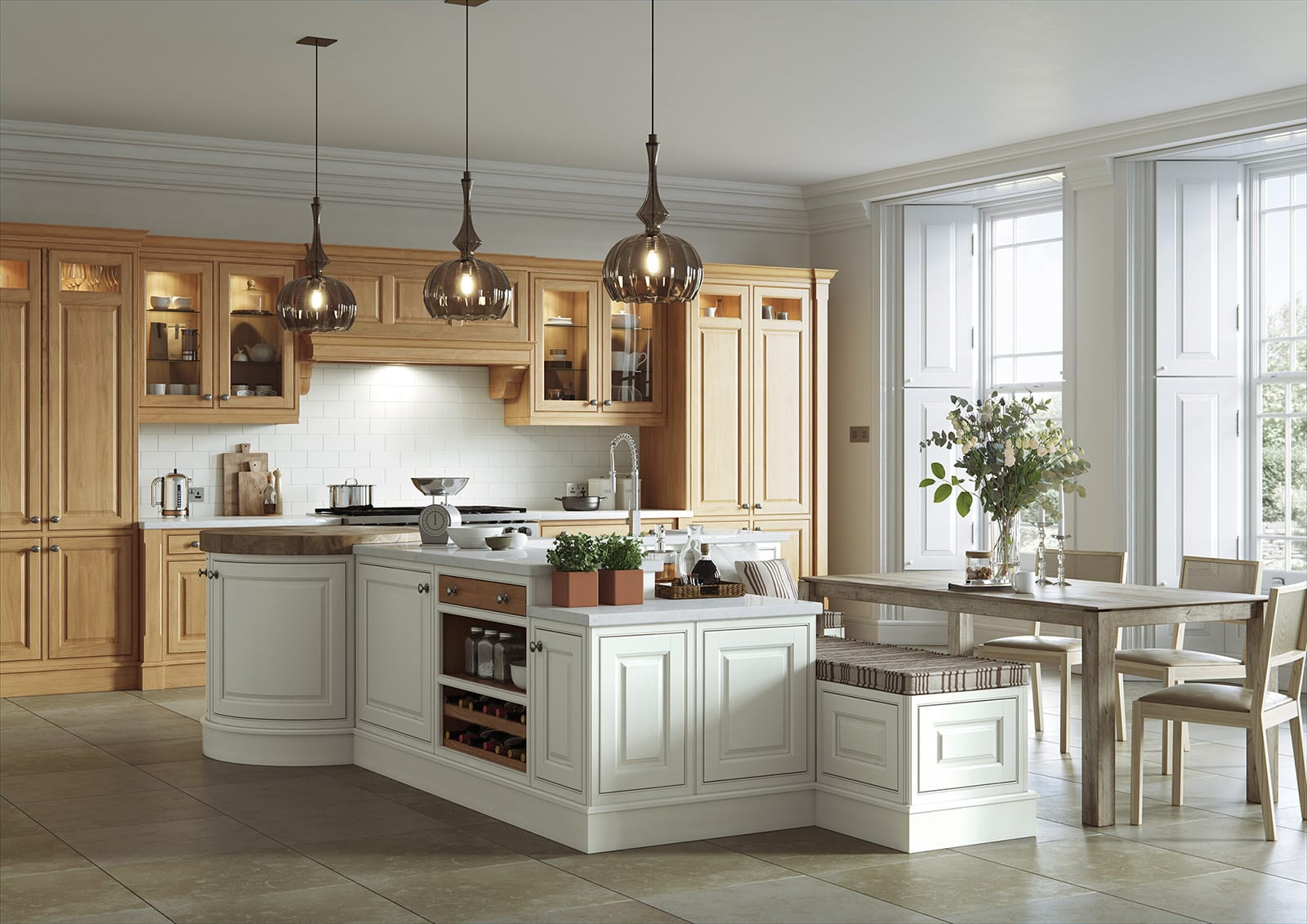Aisling Shaker In Frame Kitchen With Island | Colour House Interiors, Caterham