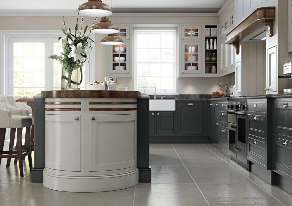 Aisling Traditional Shaker Kitchen   Colour House Interiors, Caterham