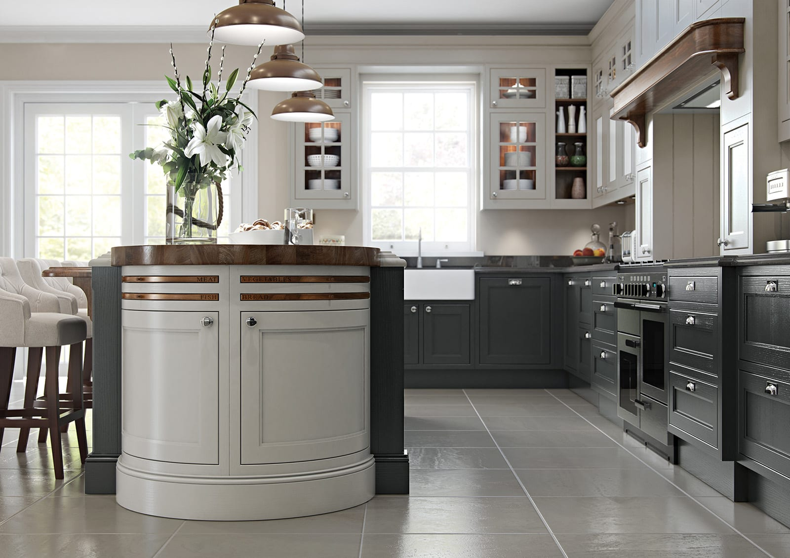 Aisling Traditional Shaker Kitchen | Colour House Interiors, Caterham