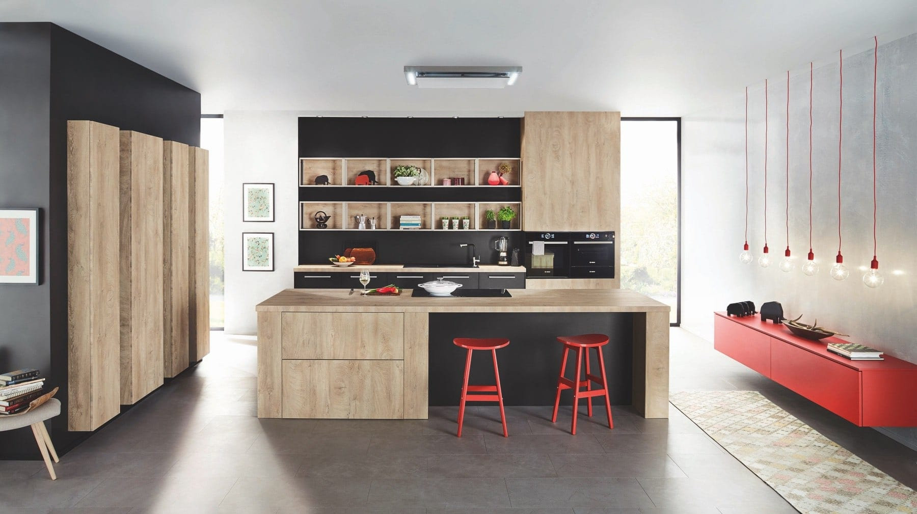 Ballerina Wood Kitchen With Island | Colour House Interiors, Caterham