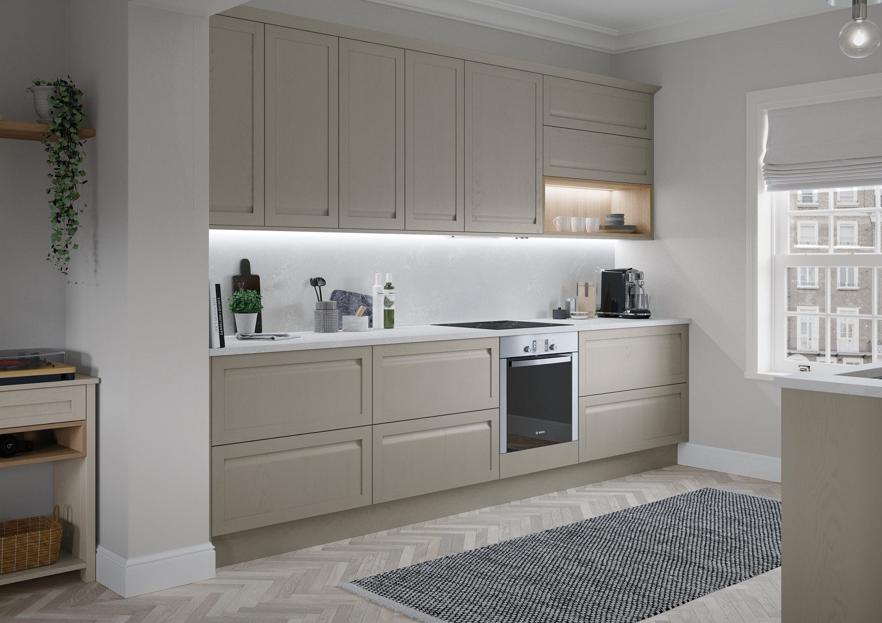 Harborne Shell And Stone Compact Kitchen | Colour House Interiors, Caterham