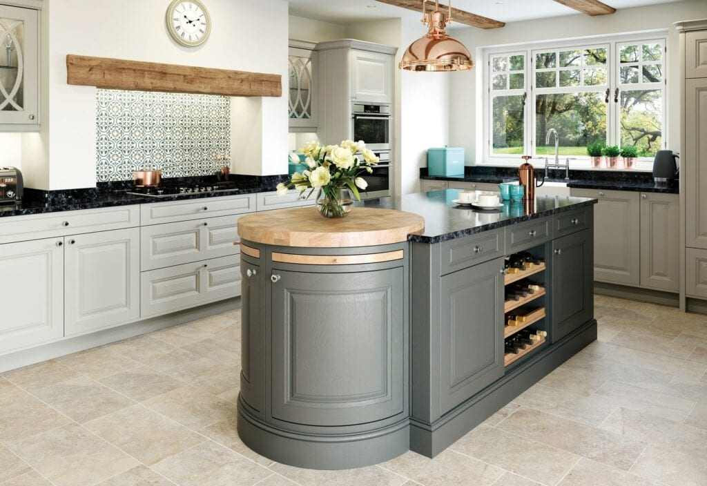 Jefferson Stone And Gun Metal Grey In Frame Kitchen | Colour House Interiors, Caterham