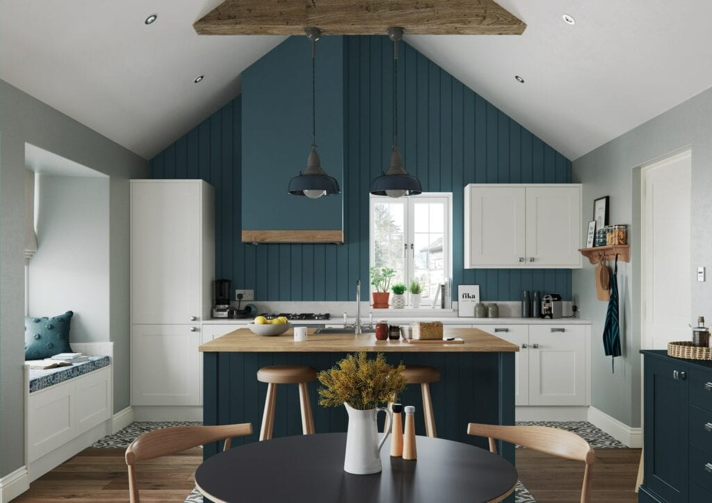 Madison Porcelain And Marine Open Plan Kitchen | Colour House Interiors, Caterham