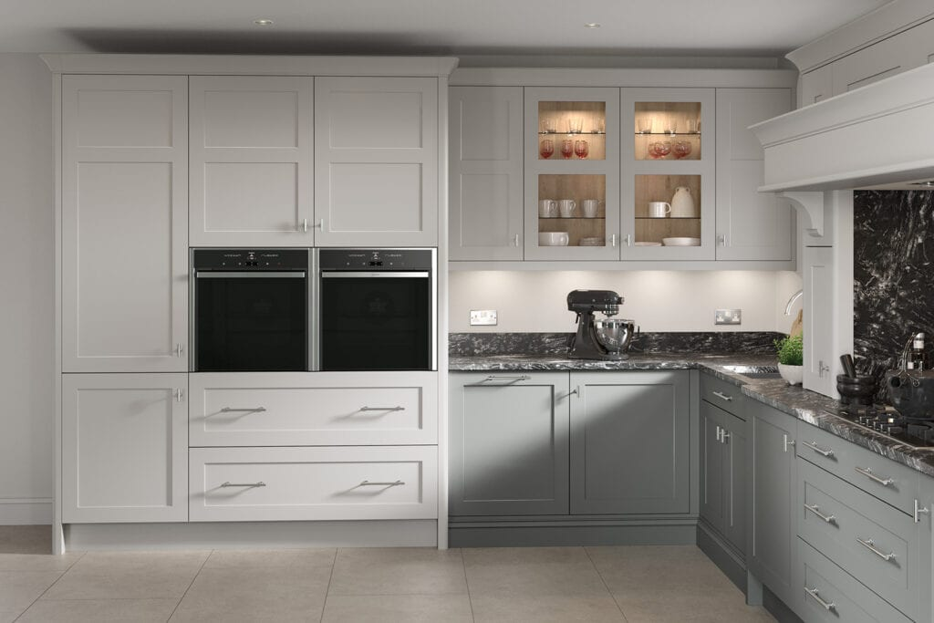 Second Nature Grey Shaker L Shaped Kitchen   Colour House Interiors, Caterham